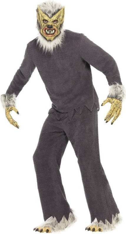 Mens Werewolf Costume Halloween Outfit - One Size