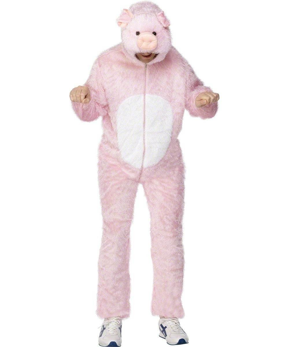 Adult Unisex Pig Costume Animal Outfit - Unisex Large