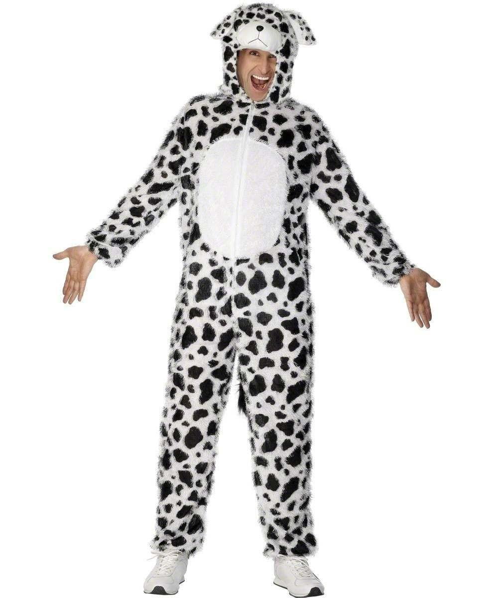 Adult Unisex Dalmatian Costume Animal Outfit - Unisex Large