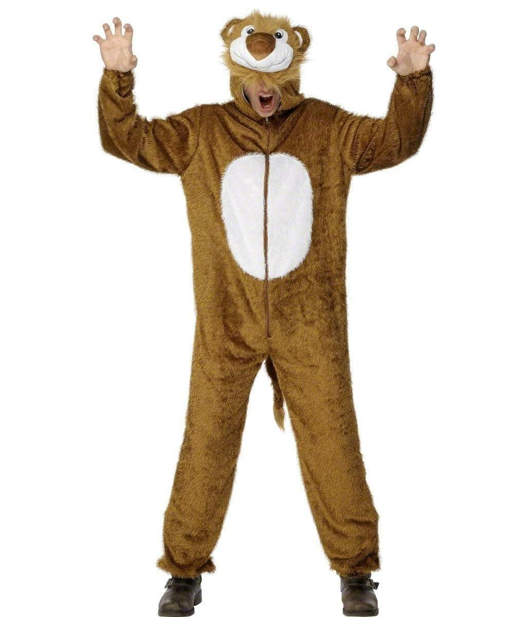 Adult Unisex Lion Costume Animal Outfit - Unisex Large