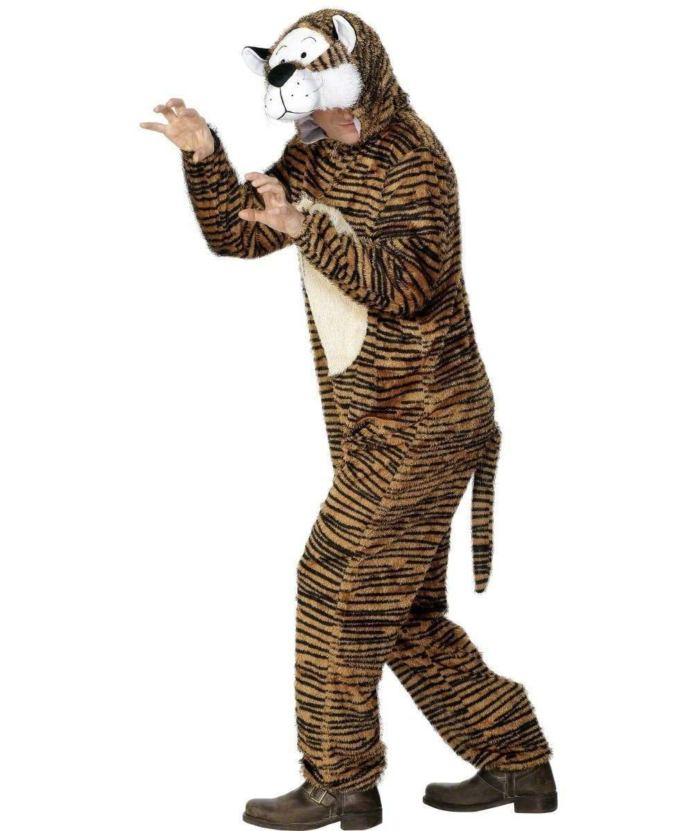 Adult Unisex Tiger Costume Animal Outfit - Unisex Large
