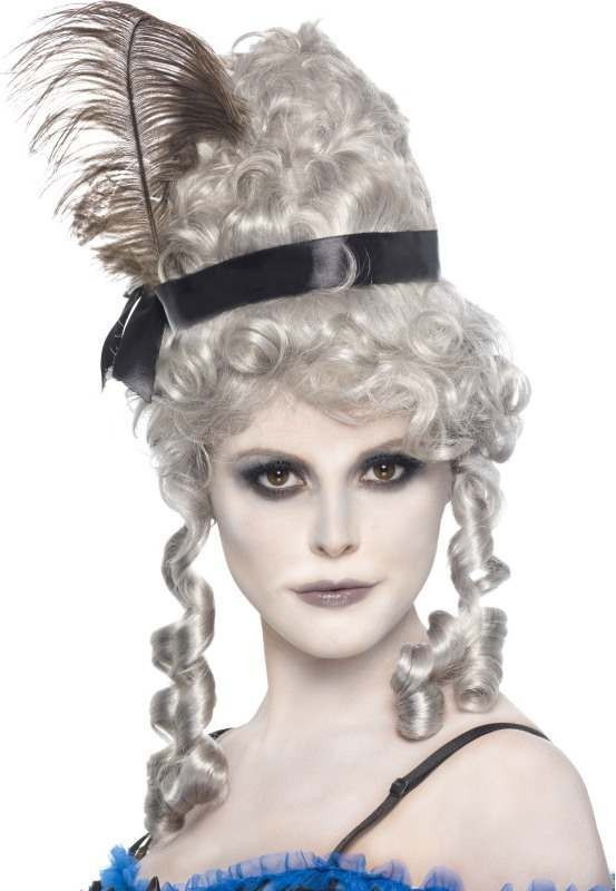 Ladies Ghost Town Saloon Girl Wig Halloween Wigs - (Grey)