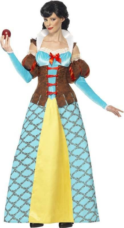 Ladies Storybook Snow Princess Fairy Tales Outfit (Blue)