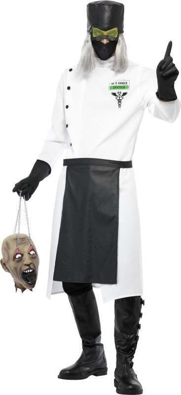 Mens Dr D.Ranged Costume Halloween Outfit (White)