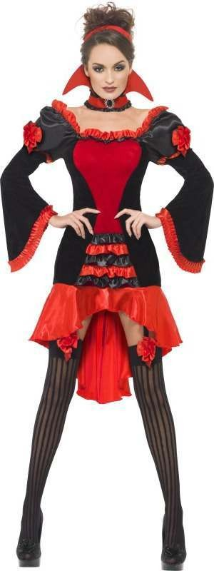 Ladies Fever Boudoir Vampiress Costume Halloween Outfit