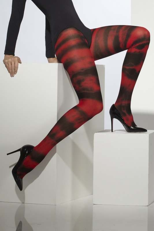 Ladies Opaque Tights Tights - (Red, Black)