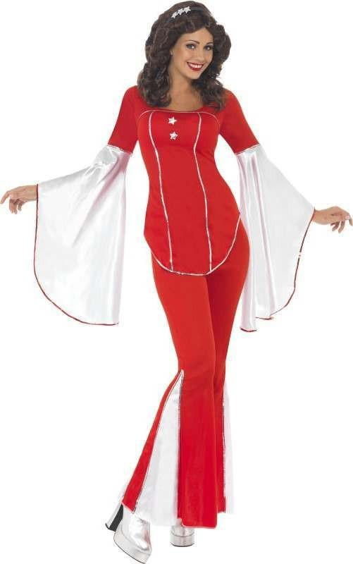 Ladies Super Trooper Costume Music Outfit (Red)