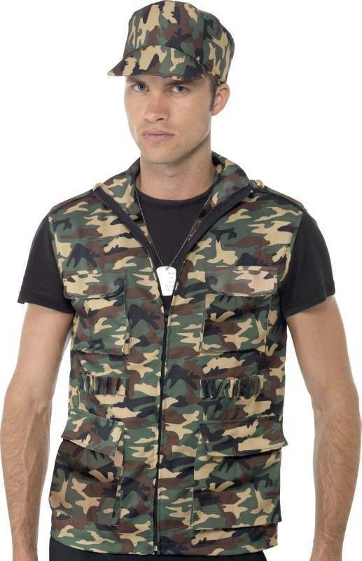 Mens Army Guy Instant Kit Army Outfit