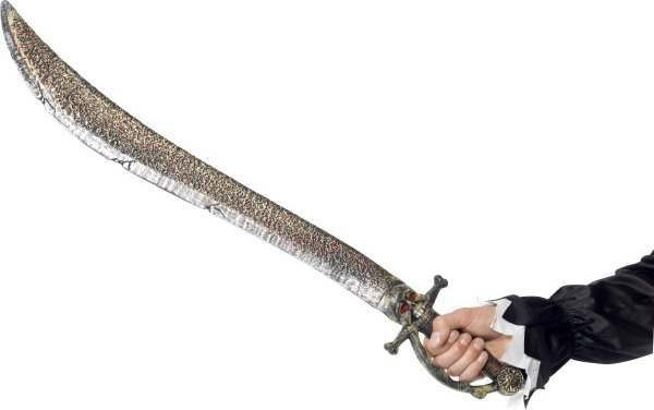 Adult Unisex Pirate Sword Swords/Knives - (Gold)