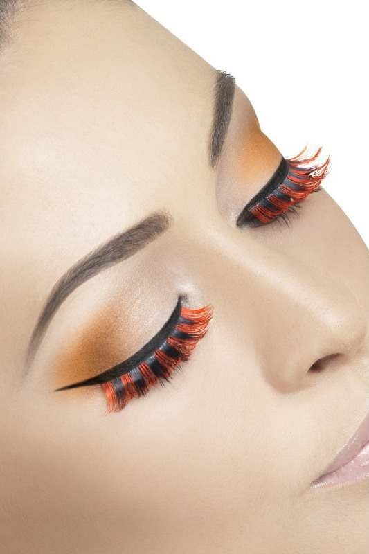 Ladies Eyelashes, Short Eyelashes - (Red, Black)