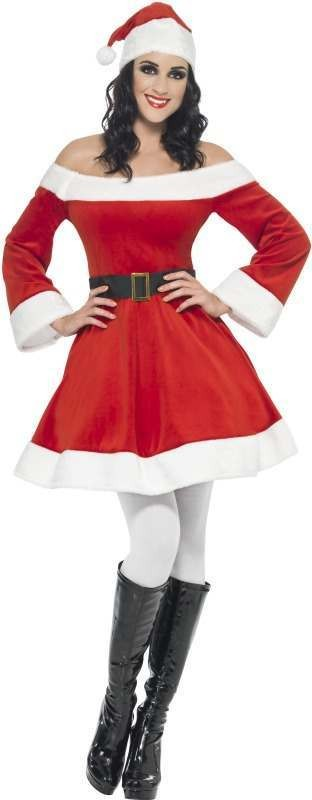 Ladies Miss Santa Costume Christmas Outfit