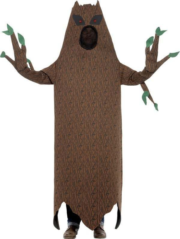 Mens Scary Tree Costume Halloween Outfit - One Size (Brown)