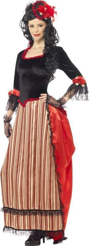 Ladies Authentic Western Town Sweetheart Costume Cowboys/Indians