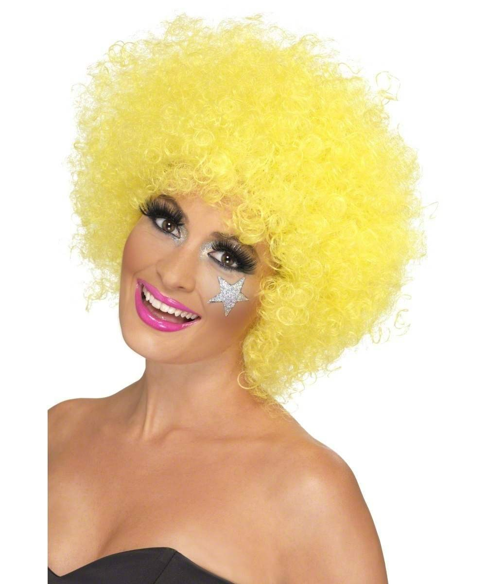 Adult Unisex Clown Wig, Yellow Wigs