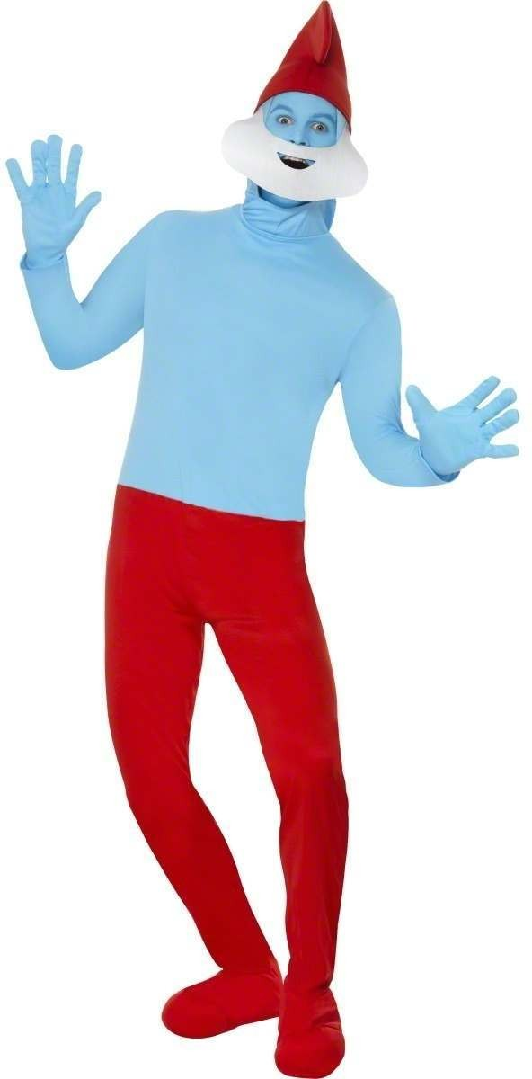 Papa Smurf Fancy Dress Costume Mens (Cartoon)