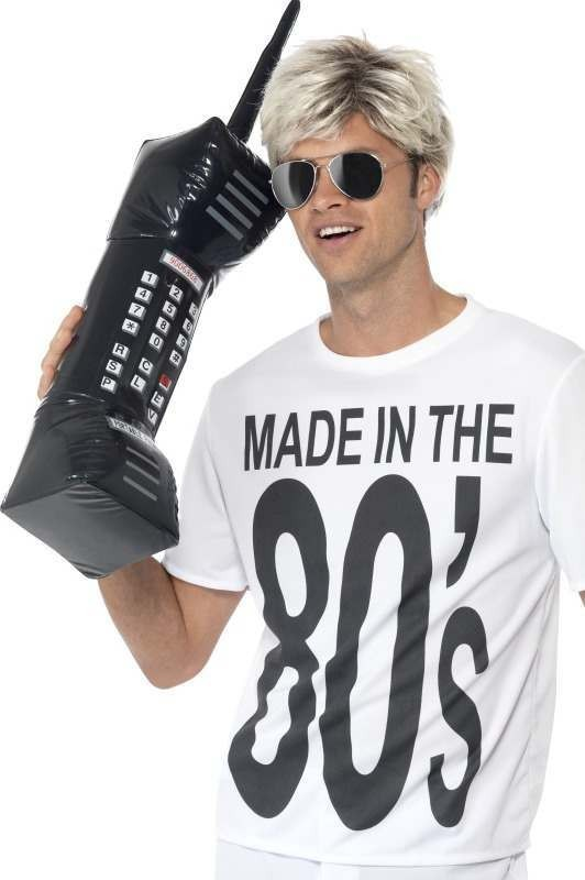 Adult Unisex Inflatable Retro Mobile Phone Inflatables - (Black)