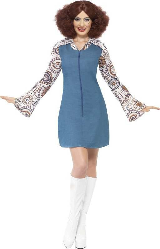 Ladies Groovy Dancer Costume Disco Outfit