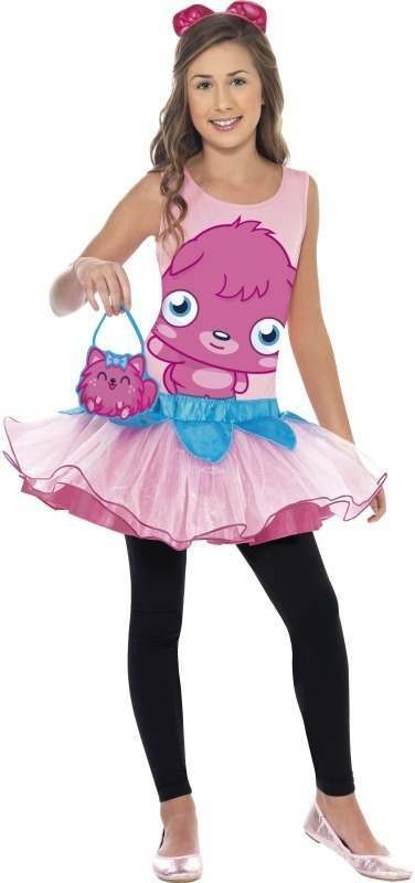 Girls Moshi Monsters Poppet Costume Cartoon Outfit
