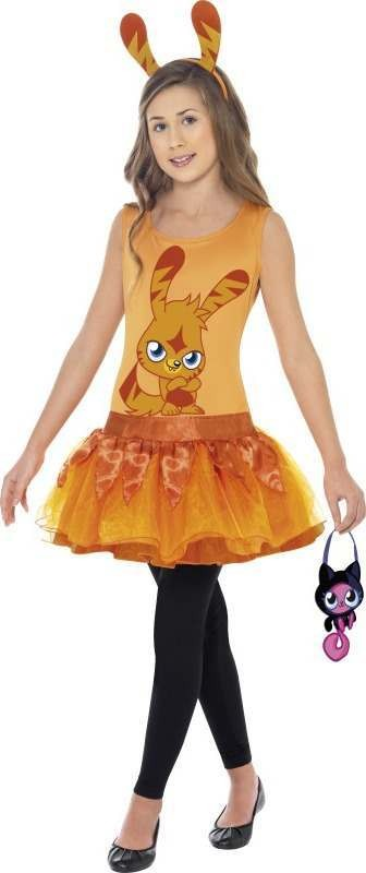 Girls Moshi Monsters Katsuma Costume Cartoon Outfit