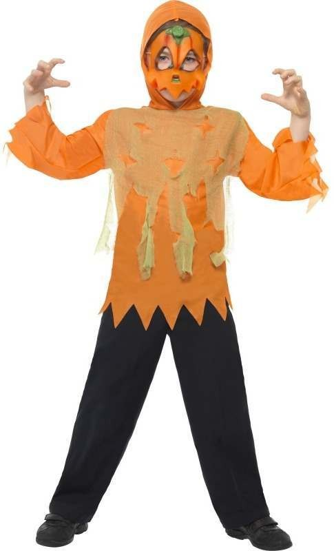 Child Unisex Pumpkin Monster Instant Kit Halloween Disguises