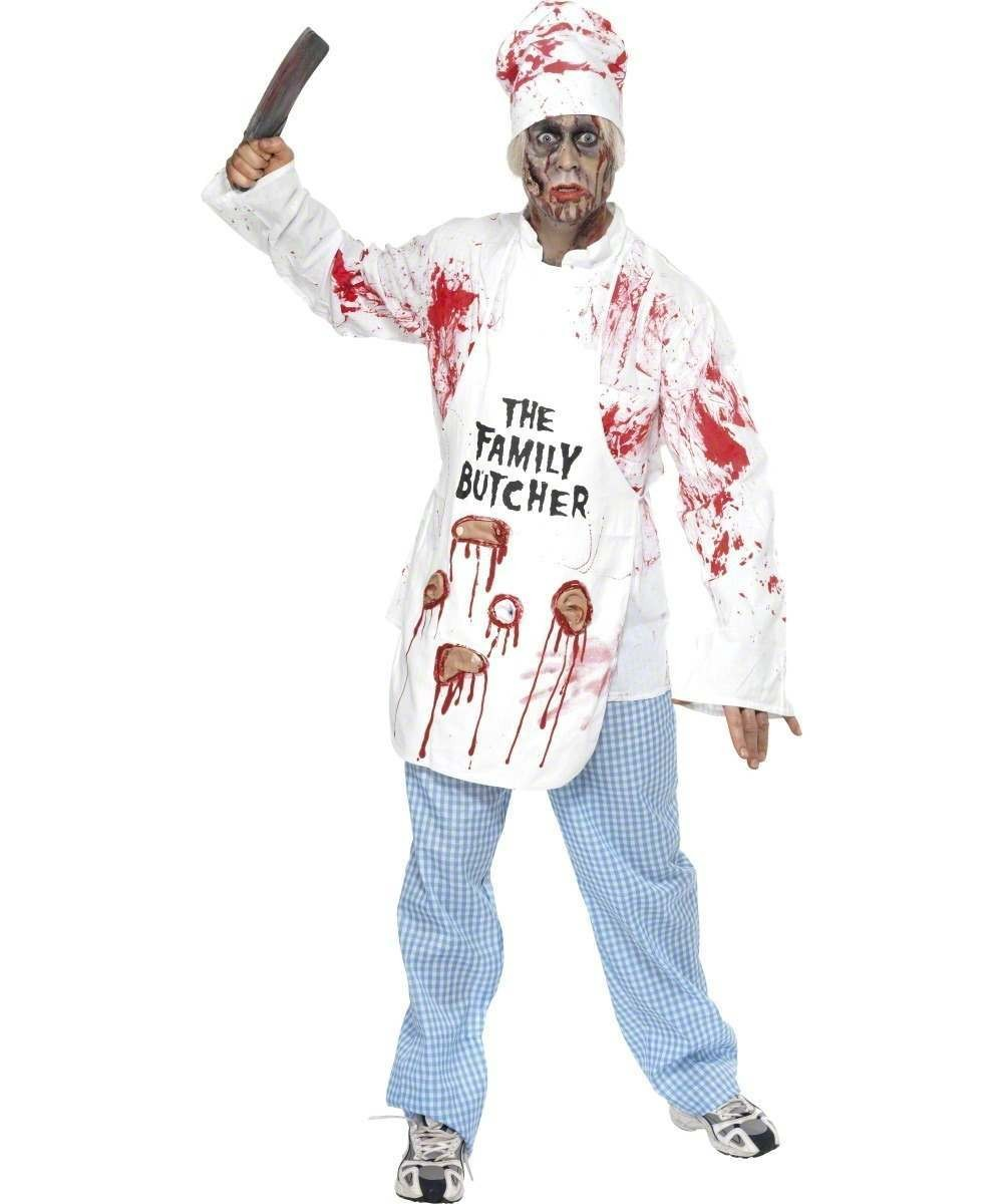 Mens Deadly Chef Costume Halloween Outfit