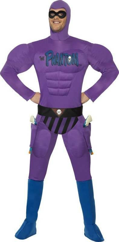 Mens The Phantom Costume Halloween Outfit (Purple)