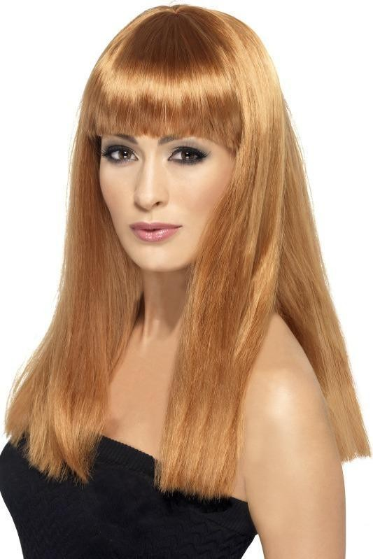 Ladies Glamourama Wig Wigs - (Red)