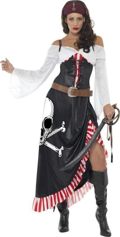 Ladies Sultry Swashbuckler Pirates Outfit (Black)