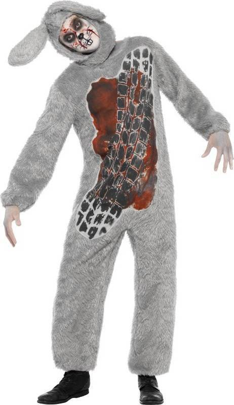 Adult Unisex Roadkill Costume Halloween Outfit - Unisex Medium (Grey)