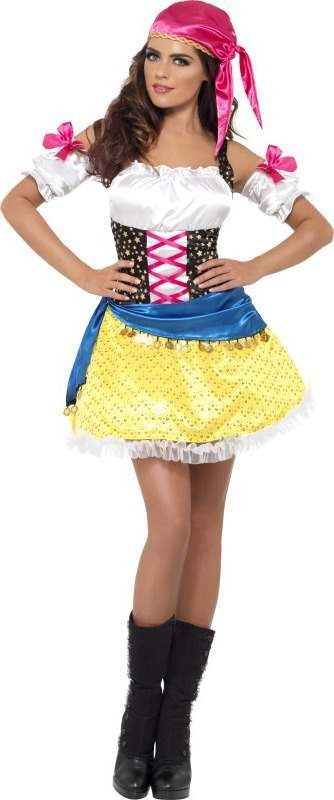 Ladies Fever Gypsy Glam Costume Gypsy Outfit