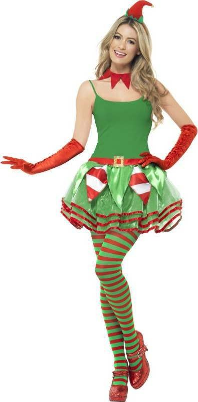 Ladies Elf Instant Kit Christmas Outfit - One Size