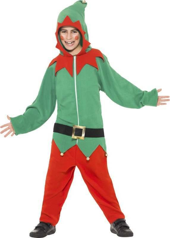 Child Unisex Elf Costume Christmas Outfit
