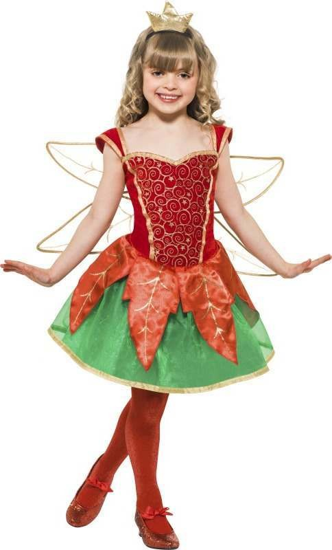 Girls Christmas Elf Fairy Christmas Outfit