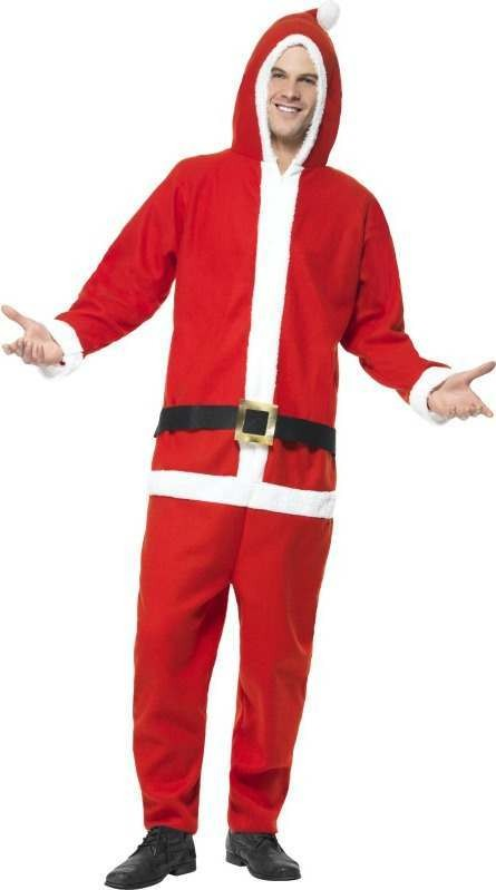 Mens Santa Costume Christmas Outfit (Red)