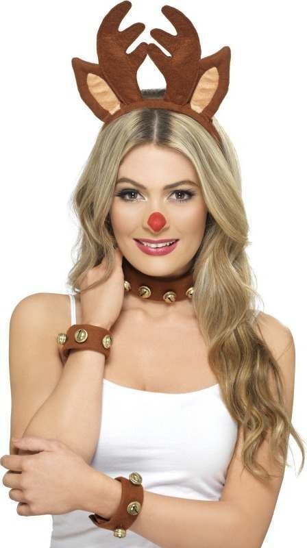 Ladies Pin Up Reindeer Kit Christmas Disguises - (Brown)