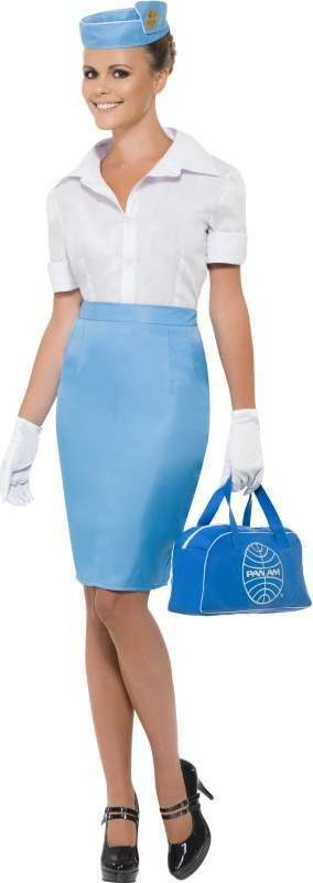 Ladies Pan Am Costume Pilot/Air Outfit