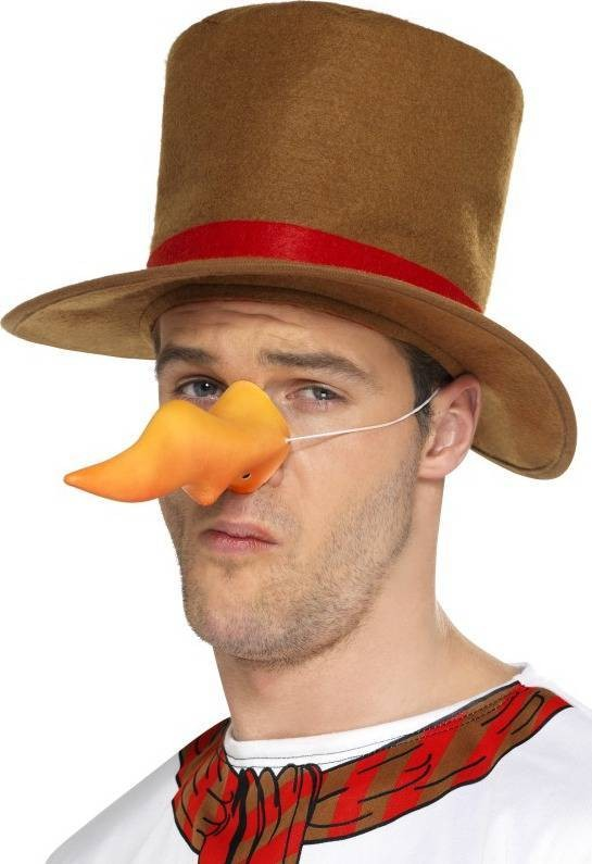 Adult Unisex Carrot Nose Christmas Disguises - (Orange)