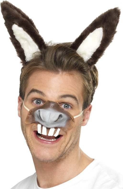 Adult Unisex Donkey Kit Christmas Disguises - (Grey)