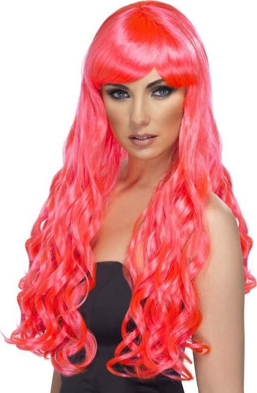 Desire Wig (Fancy Dress Wigs) - Neon Pink