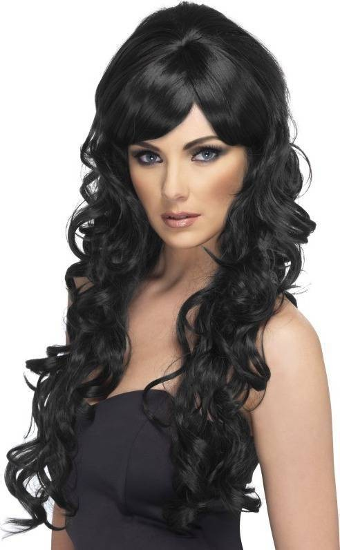 Pop Starlet Wig (Christmas Wigs) - Black