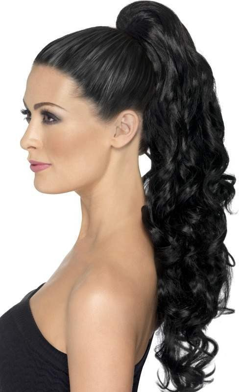 Ladies Divinity Hair Extension Wigs - (Black)
