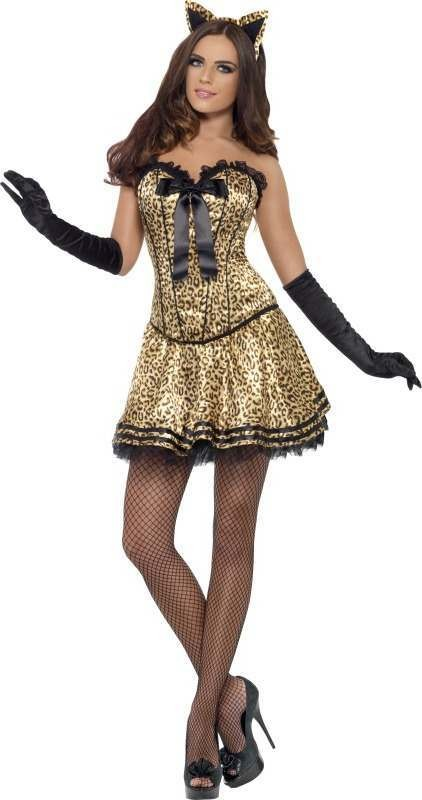 Ladies Fever Boutique Kitty Costume Outfit - One Size