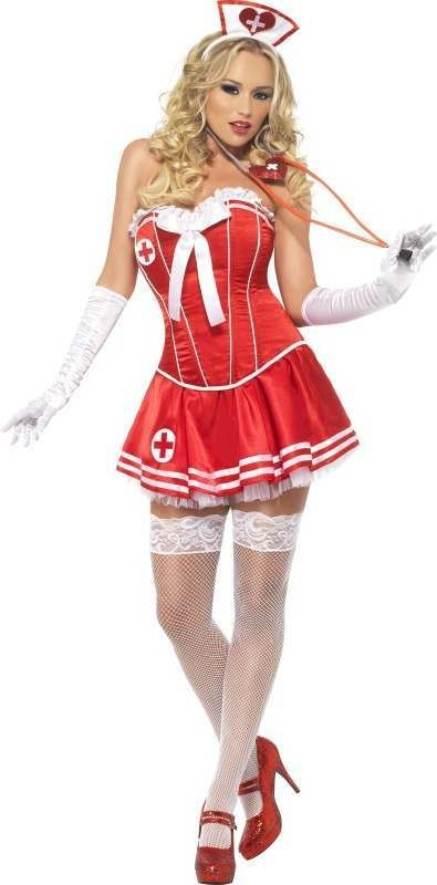 Ladies Fever Boutique Nurse Costume Outfit