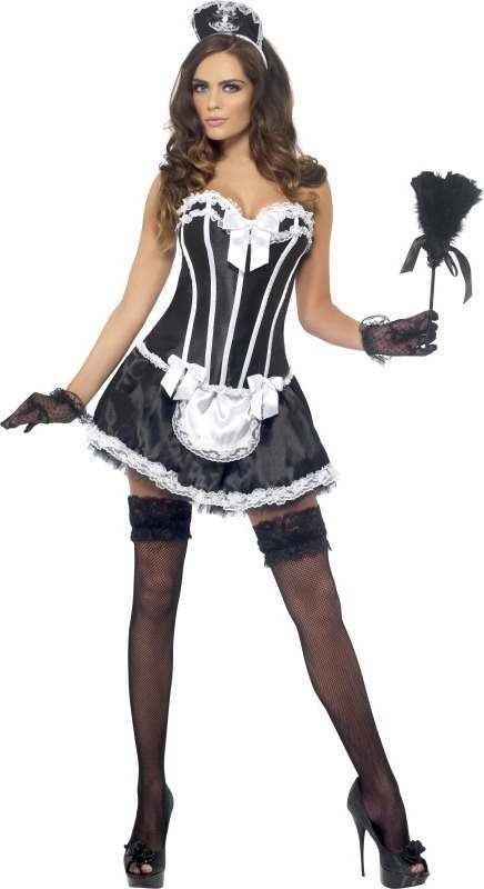 Ladies Sexy Fever French Maid Fancy Dress Costume