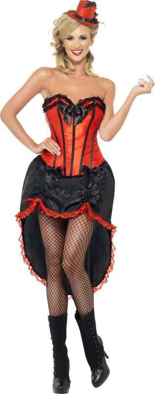 Ladies Burlesque Dancer Costume Burlesque Outfit (Red)