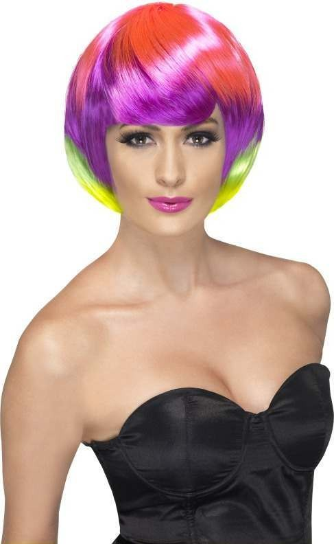 Ladies Funky Babe Wig Wigs - (Multicolour)