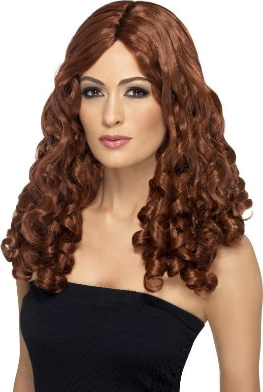 Film Star Wig, Curly Wigs - (Red)