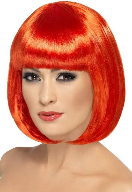 Party Wig, 12 Inch Wigs - (Red)