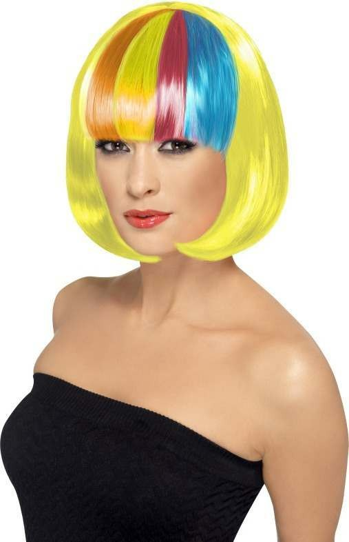 Partyrama Wig, 12 Inch Wigs - (Yellow)