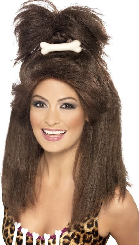 Ladies Crazy Cavewoman Wig Wigs - (Brown)